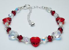 Perfect for Mother's Day for Mom, Grandma or wife - Swarovski Crystal Heart…