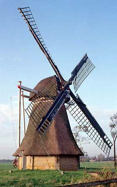Broekpoldermûne / De Broekmolen, Broeksterwoude, Foto: W. Jans (12-10-2001).