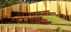 hardwood timber retaining wall terracing a steep back yard Clean Up, Brisbane, Terrace, Hardwood, Projects To Try, Commercial, Industrial, Backyard, Landscape
