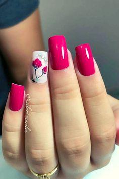 Elegant Nails, Stylish Nails, Trendy Nails, Cute Nails, Fall Nail Art Designs, Pretty Nail Art, Flower Nails, Gorgeous Nails, Swag Nails