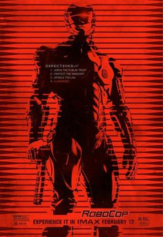 Robocop IMAX Poster - Inspiration for GR3T3L-1 story...