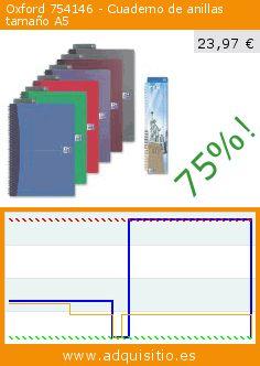 Oxford 754146 - Cuaderno de anillas tamaño A5 (Productos de oficina). Baja 75%! Precio actual 23,97 €, el precio anterior fue de 95,17 €. http://www.adquisitio.es/oxford/754146-cuaderno-anillas