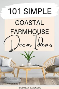 This collection of simple but smart home decor ideas will really improve the look and feel of your coastal farmhouse. Get inspired to update your interior design style and create your dream room, whether that's in your bedroom, bathroom, kitchen or living room. These products include rugs, lighting, accent chairs and more. #farmhouse