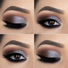 17 Best Matte EyeShadow Makeup Ideas And Tips To Look Great - Silber Augen Make-up-Ideen, Atem Prom Eye Makeup, Silver Eye Makeup, Eye Makeup Tips, Smokey Eye Makeup, Wedding Makeup, Beauty Makeup, Makeup Ideas, Makeup Products, Makeup Geek
