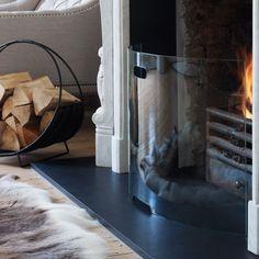 Curved Glass Fire Guard | Fireside | Graham & Green