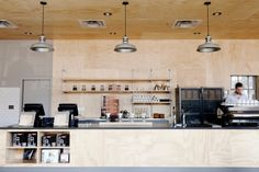 Great upscale coffee shop that turns into a bar at night. The Grant Park location provides a great food selection.