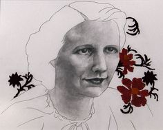 My great-grandmother. embroidery and graphite on bristol