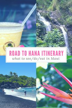 The absolute BEST itinerary for the Road to Hana in Maui, Hawaii. GO! It's beyond beautiful! So glad I pinned this --> now I know all the stops to make on the Road to Hana! :)