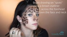 Learn how to look like an exotic giraffe this halloween with some LovelySkin favorites! Learn how to look like an exotic giraffe this halloween with some LovelySkin favorites! Unique Halloween Makeup, Halloween Make Up, Pretty Halloween, Halloween Ideas, Halloween Decorations, Halloween Costumes, Awkward Text Messages, Awkward Texts, Giraffe Make Up