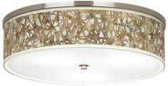 Organic Nest Shade Three Light Flushmount Ceiling Light - http://www.eurostylelighting.com/euj9213-t5784.htm $200