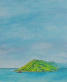 Fallen Pillbox 61 x 51 cm #coast #art #paintings #coastalart #pillbox # seaside #beach #brycebrownartist