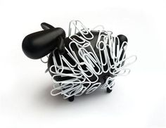 Sheep Clipper, Fun Magnetic Sheep Paperclip Holder by Cubic, Yard Gallery