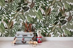 Mischievous Monkeys fotobehang online #behang #jungle #wallpaper #behangwebshop #online @ www.living-shop.nl.rw.nu