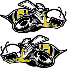 Dodge Decals Trailer super bees decals. Dodge Charger Super Bee, Hot Rod Tattoo, Dodge Pickup Trucks, Diorama, Dodge Muscle Cars, Cars Coloring Pages, Bee Art, Sticker Design, Mopar