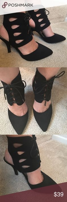 Stunning Heels For Holidays Parties Attractive rare design by Madden Girl. Size 8.5. Worn only a couple times. In excellent condition! Normal slight wear in the sole as showing in pic 4! No other flaws! Madden Girl Shoes Heels