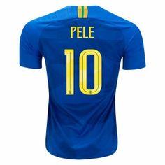2018 World Cup Jersey Brazil Away Pele Replica Blue Shirt 2018 World Cup  Jersey Brazil Away Pele Replica Blue Shirt  2228f2e288e81