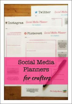 Social media planners for Craft Businesses, digital download pdf, 4 files , Pinterest, Instagram and Twitter, plus calendar, marketing
