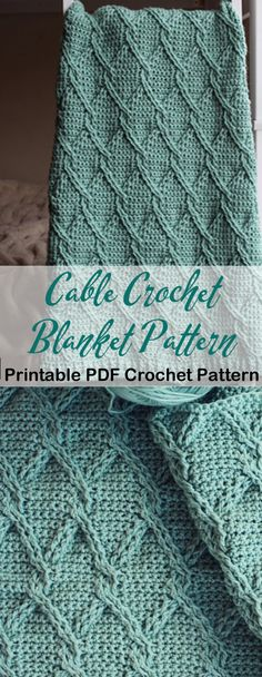 Cable Blanket Crochet Patterns – Update Your Home - A More Crafty Life Crochet Afghans, Knit Or Crochet, Baby Blanket Crochet, Crochet Crafts, Crochet Throws, Crochet Cable Stitch, Crochet Humor, Kids Crochet, Booties Crochet