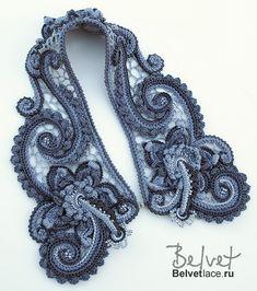 Diseño y encajes de ganchillo porción Victoria Belvet