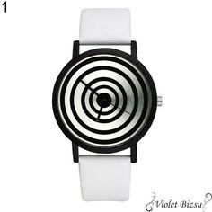 Fekete fehér absztrakt különleges ékszer óra Dobd fel ruhatáradat egy trendi órával 🙂  Fém óratok, quartz szerkezet  Szíj hossza kb. 22cm, szélessége kb 2cm  Az esetleges Kronográf mutatók csak díszítő elemek Watch Brands, Style Fashion, Womens Fashion, Quartz Watch, Watches For Men, Band, Creative, Pattern, Leather