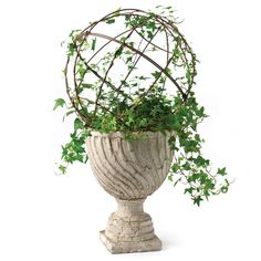 Small Round Metal Topiary for Outdoor Planter # #Home #Tools #HomeAccessories