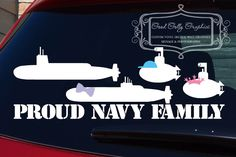 Military decal: Proud Navy submarine family