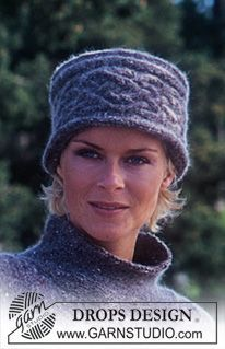 """Oversizes DROPS Pullover and Hat/Head band in """"Alpaca"""" and """"Kid-Silk"""". ~ DROPS Design"""