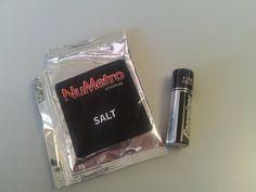 A salt and battery.