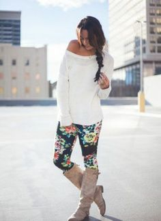 Floral Leggings - Bottoms - Shop