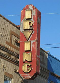 The Irving Theater marquee.......Spent just about every Sat. afternoon there!