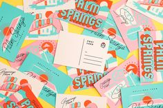 TinyLetter Residency Postcards | Fuzzco #vintage #typography #postcard