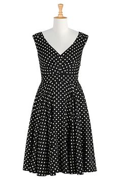 Count the dots print dress