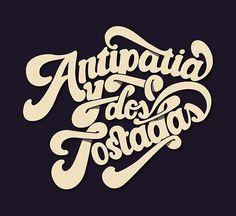 pinterest.com/fra411 #typography #lettering Miquel Vila Antipatia 30 Posters de typographie pour votre inspiration