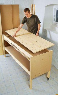 meine werkbank bauanleitung zum selber bauen heimwerker forum werkstatt pinterest. Black Bedroom Furniture Sets. Home Design Ideas