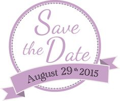 Save the Date Wedding Graphic Digital Download  August 15th, 2015 in Lavender – Use for stickers, seals, envelopes, banners and more! By Oliverink on Etsy $3.00 #OliverINK #wedding