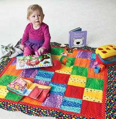 Toddle Time: Easy Template-Free Baby Quilt Pattern