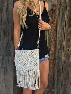 Crochet Fringe Bag – Lola Jeannine