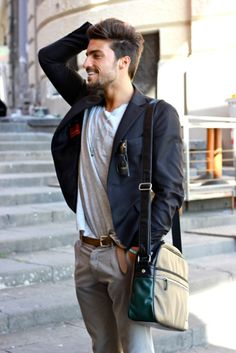 I really like this outfit... every piece of it.  menswear  style  bag 86673d6bfb184