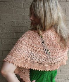 My how summer flies by, but this lacy summer shawl is the perfect accessory to cover bare shoulders on a breezy summer evening. The butterfly and lace motif are accented by a knotted openwork trellis, reminiscent of butterflies happily fluttering through your summer garden.This shawl is worked by sections with increases made only on the right side rows. This creates a gentle curve for a shallow half round shawl. I recommend using natural plant fiber yarn in a DK or worsted weight, but you…