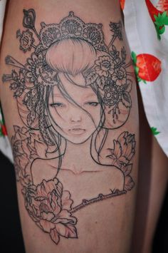 Audrey Kawasaki inspired by Danica  Empire Tattoo Adelaide