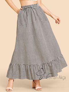 çizgili etekler, striped skirts, fashion skirts, burdastyle skirts with leggings casual Warm Outfits, Mode Outfits, Stylish Outfits, Fashion Outfits, Womens Fashion, Fashion Skirts, Women's Fashion Leggings, Legging Outfits, Skirt Outfits Modest