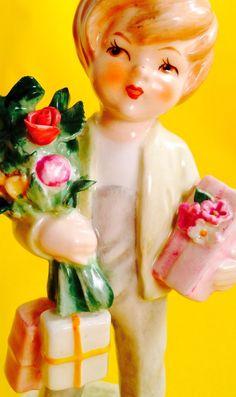 HAPPY BIRTHDAY Festive Boy Goebel Hummel Girl Gift Figurine Cute Paigboy Haircut | eBay