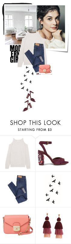 """you are my bird"" by beingaries ❤ liked on Polyvore featuring Post-It, IRO, See by Chloé, Cheap Monday and Longchamp"