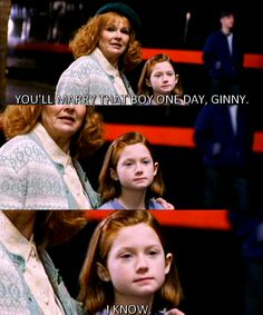 This is so sweet! Together forever! Ginny and Harry!<3