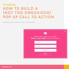 How to Build a (Not Too Obnoxious) Pop Up Call to Action