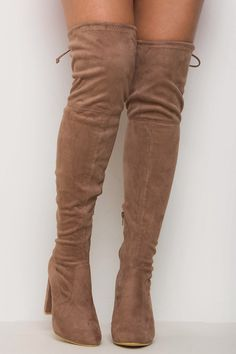 Step It Up Knee High Boots Mocha - Boots - Shoes - Shoes | Lasula
