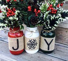 Festive decor #christmas #masonjar #holidays #ad