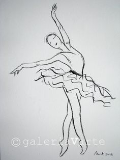 Charcoal drawing - ballet - original - europeanstreetteam. $40.00, via Etsy.