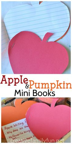 These apple and pumpkin mini books are a fun place for your kids to practice a…