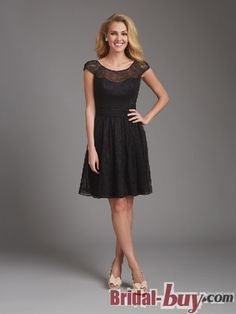 Short Black Lace Bridesmaid Dresses Dress Allure
